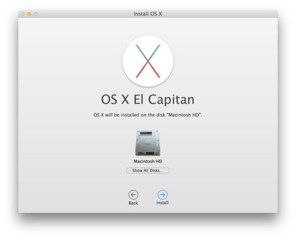 install upgrade to os x el capitan 5