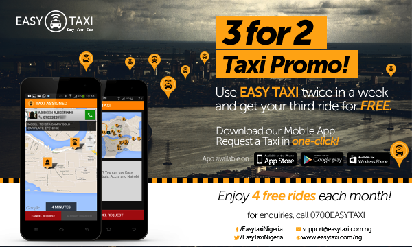 Easy Taxi Nigeria Offers Sweet Taxi Ride Deal!