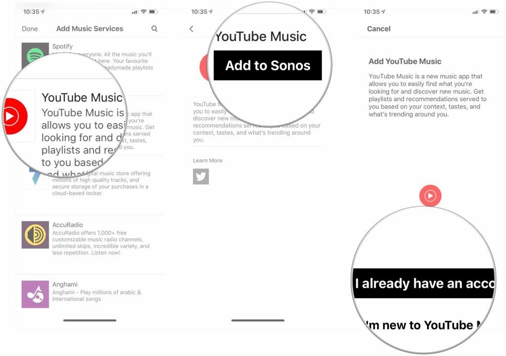 sonos speakers youtube music