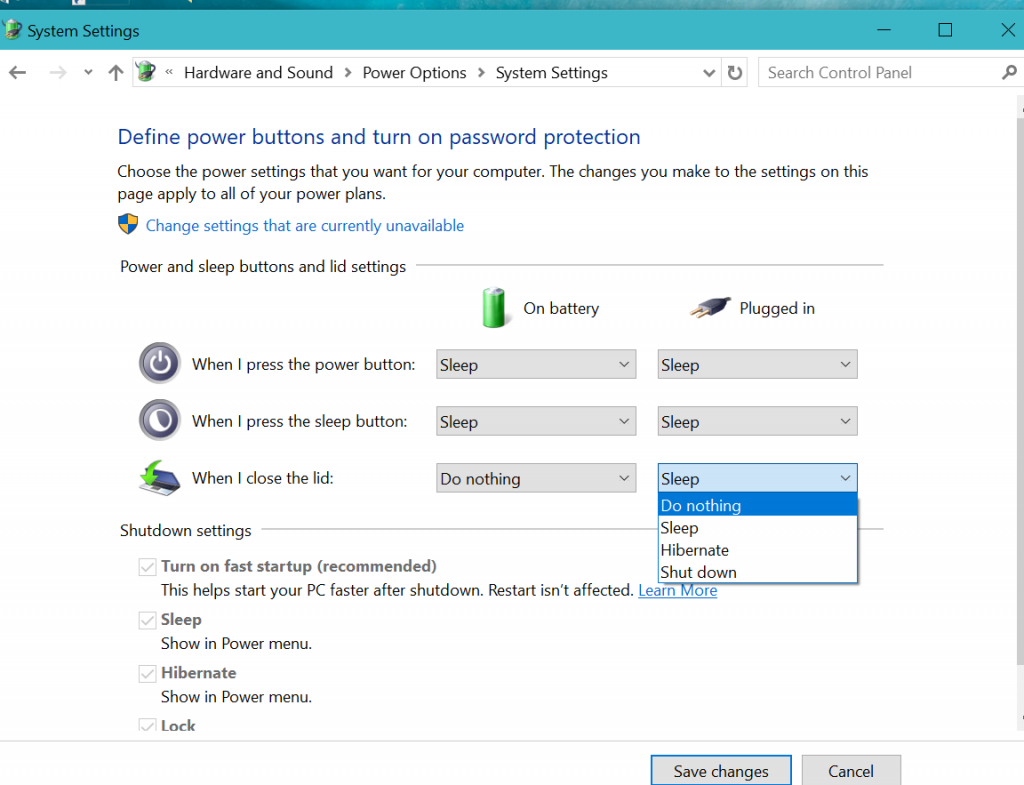 How to keep Windows 10 Laptop still operating with the Lid closed